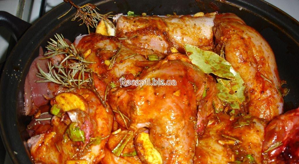 Кролик запеченный в духовке пошаговый рецепт с