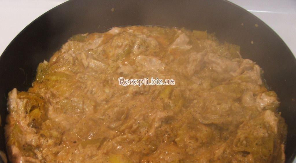 Тушеная тыква с мясом в духовке рецепт