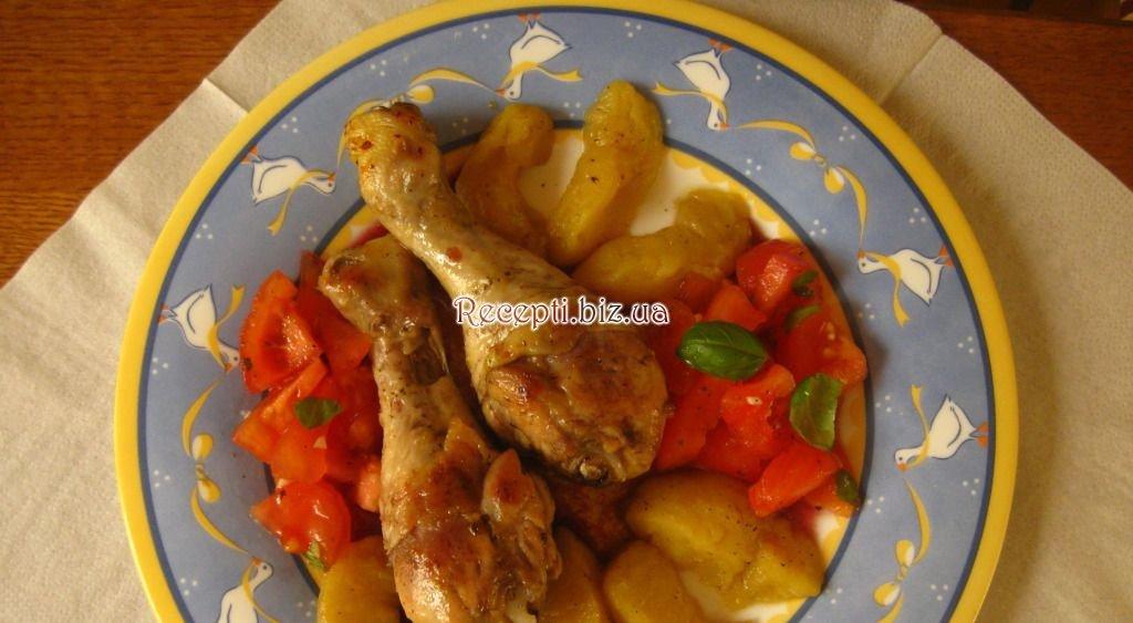 Запеченная курица с картофелем рецепт пошагово