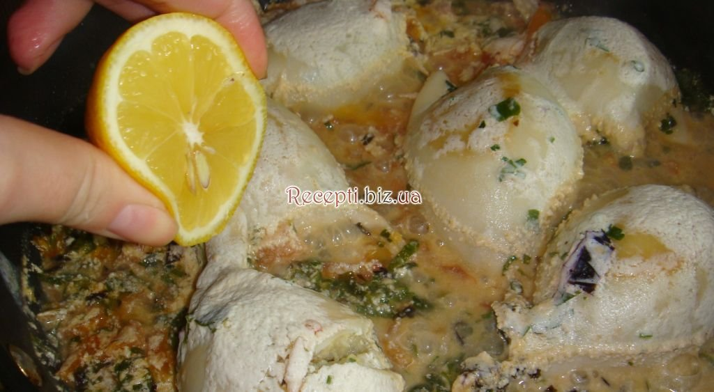 Кальмары фаршированные пошаговый фото рецепт